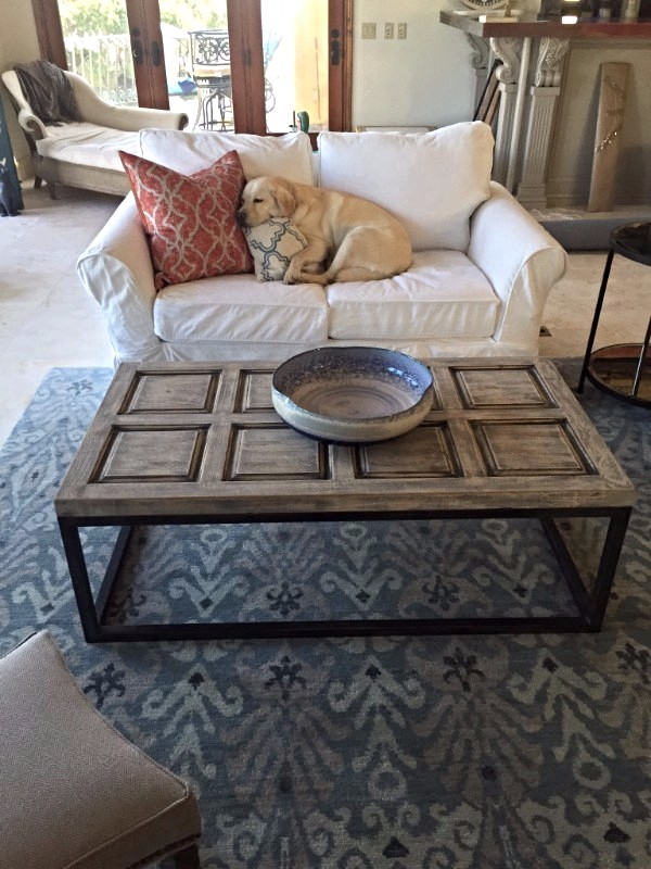 What did you notice first, the beautiful Affinity rug or that ADORABLE puppy sleeping on the couch? Designer- Polly Bento of Sea Glass Interiors / Rug style Affintiy R35226 Grey/ Camel