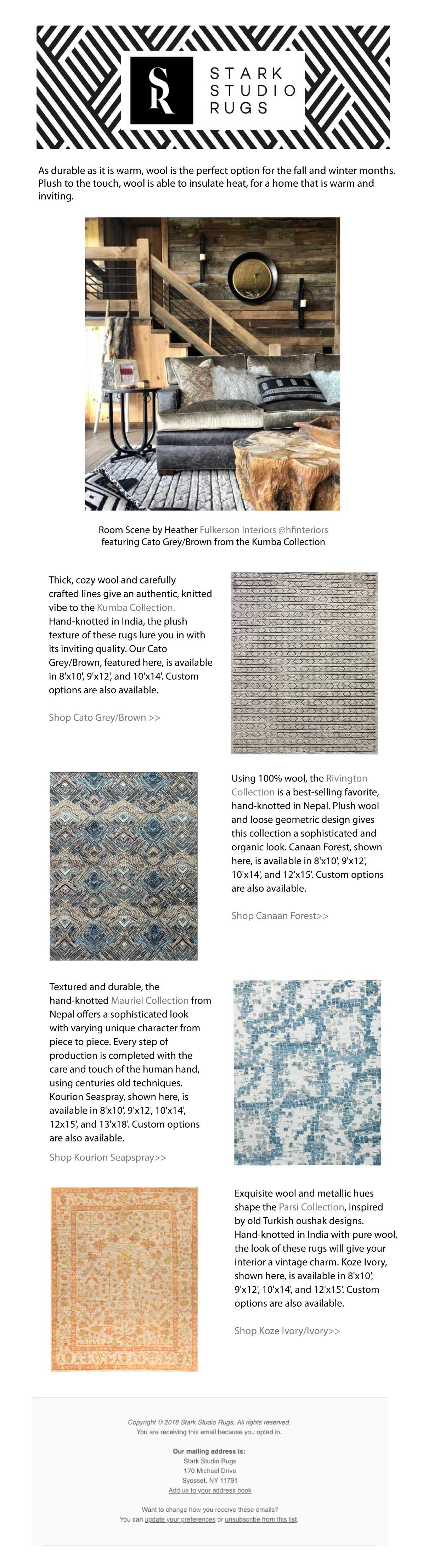 Stark Studio Rugs } 100% Wool: the Warmest Rugs of the Season
