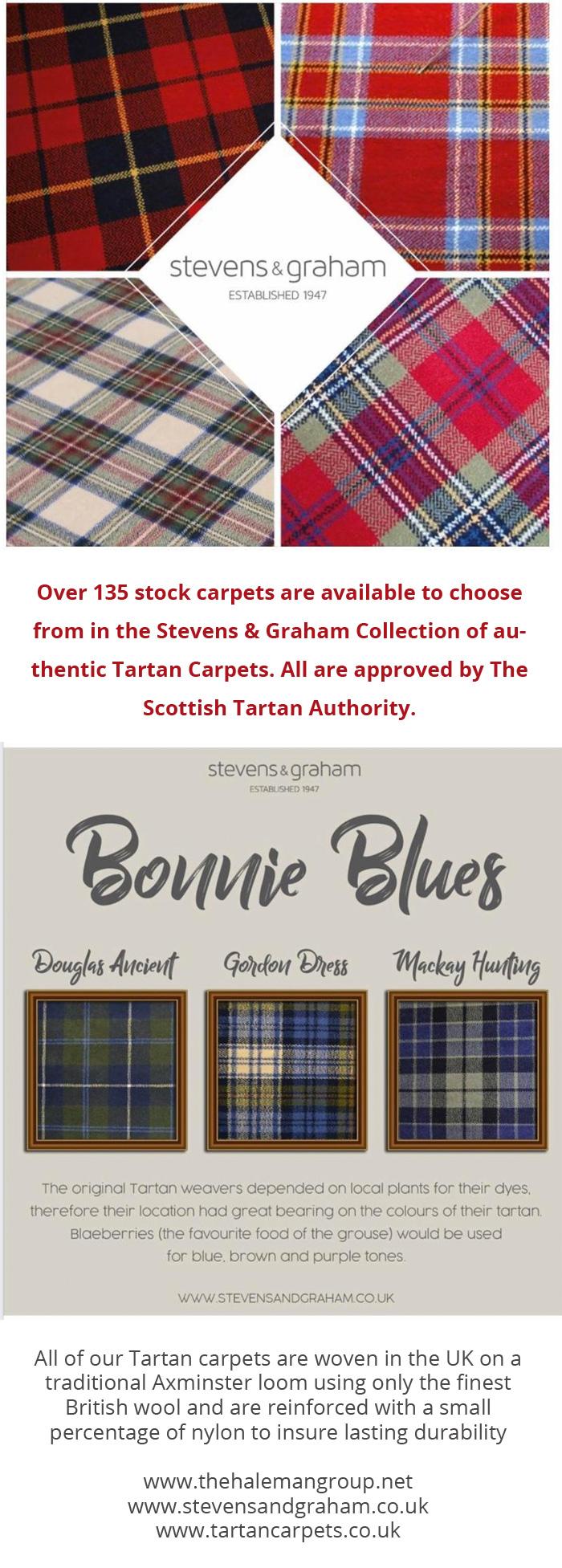 Scottish Tartan Carpets from Stevens & Graham