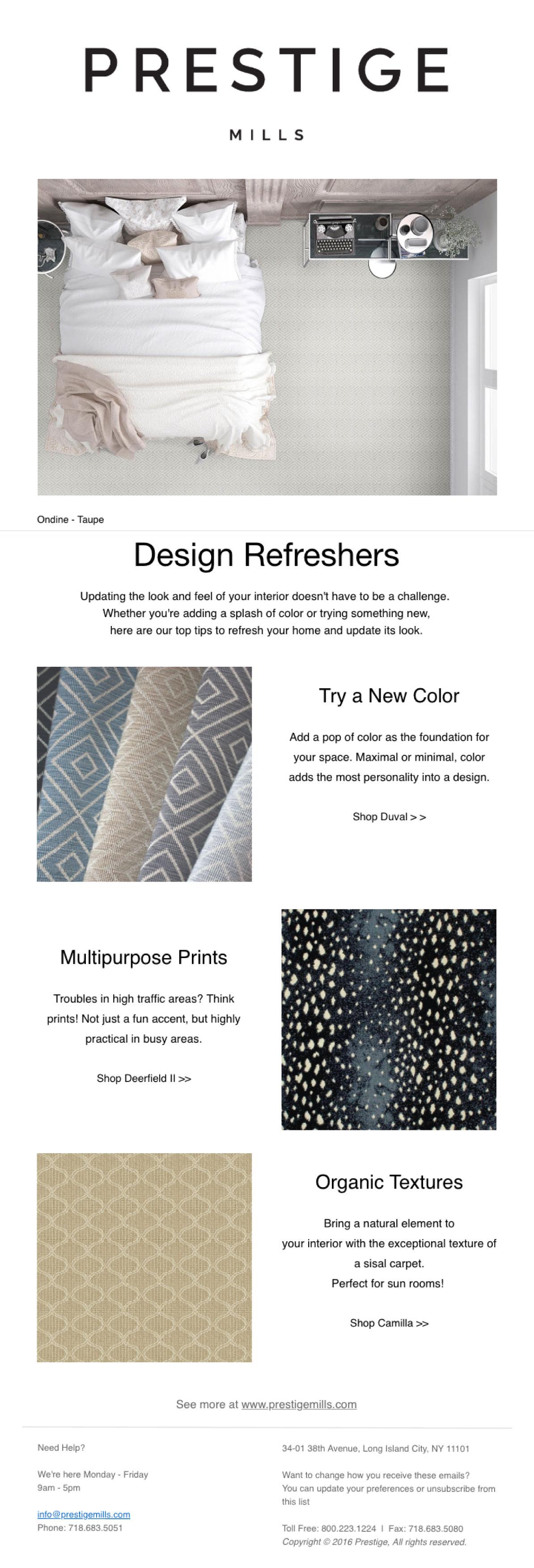 prestige mills Quick & Simple Design Updates