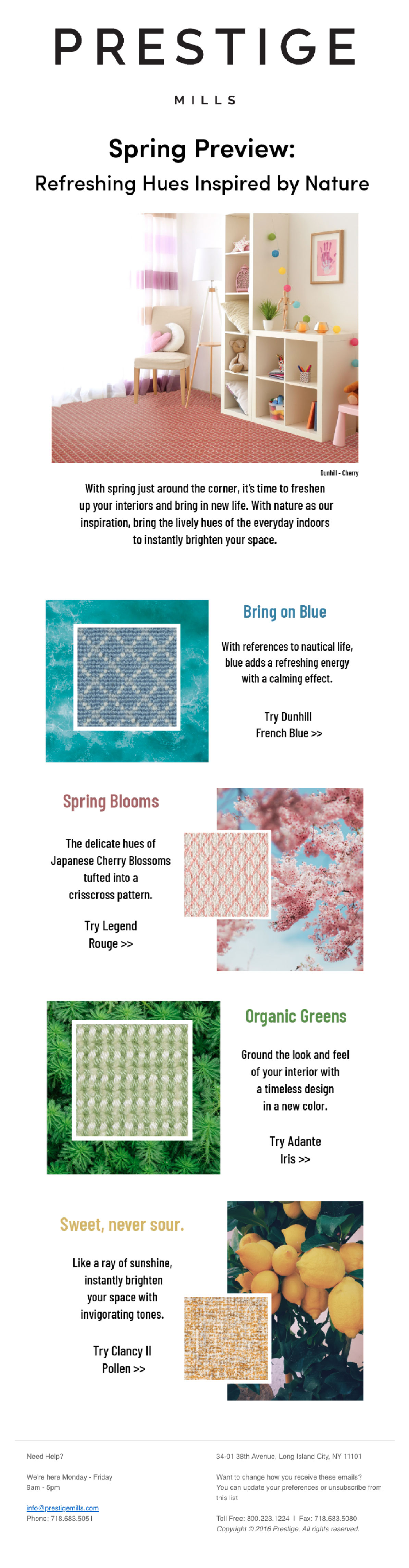 Prestige Mills - The Spring Color Palette