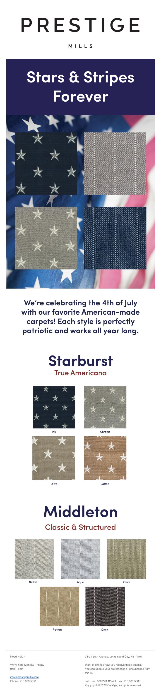 Prestige Mills Celebrating Americana Style