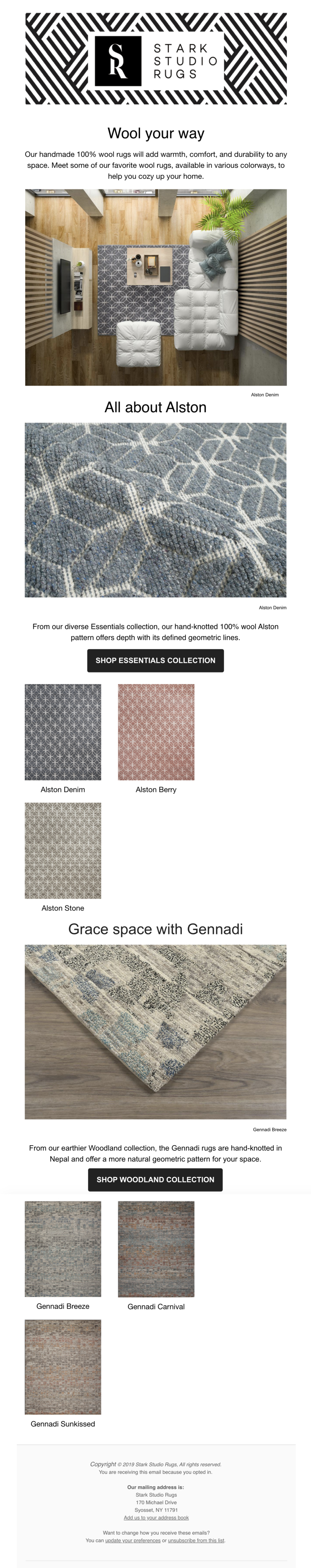 Stark Studio Rug Post | Wool your way: choose your color!