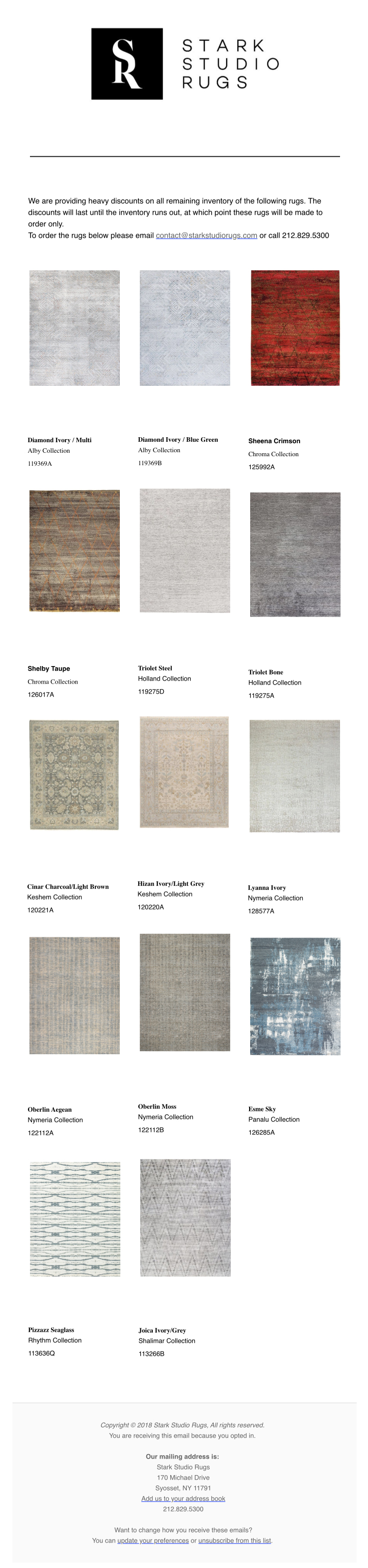 Stark Studio Rugs Post | Limited Stock Rugs | November 2019