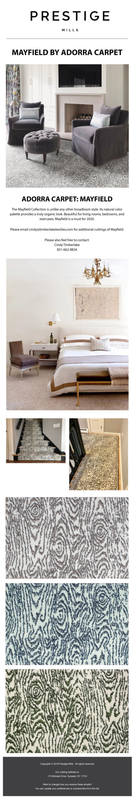 Prestige Mills | Mayfield by Adorra Carpet