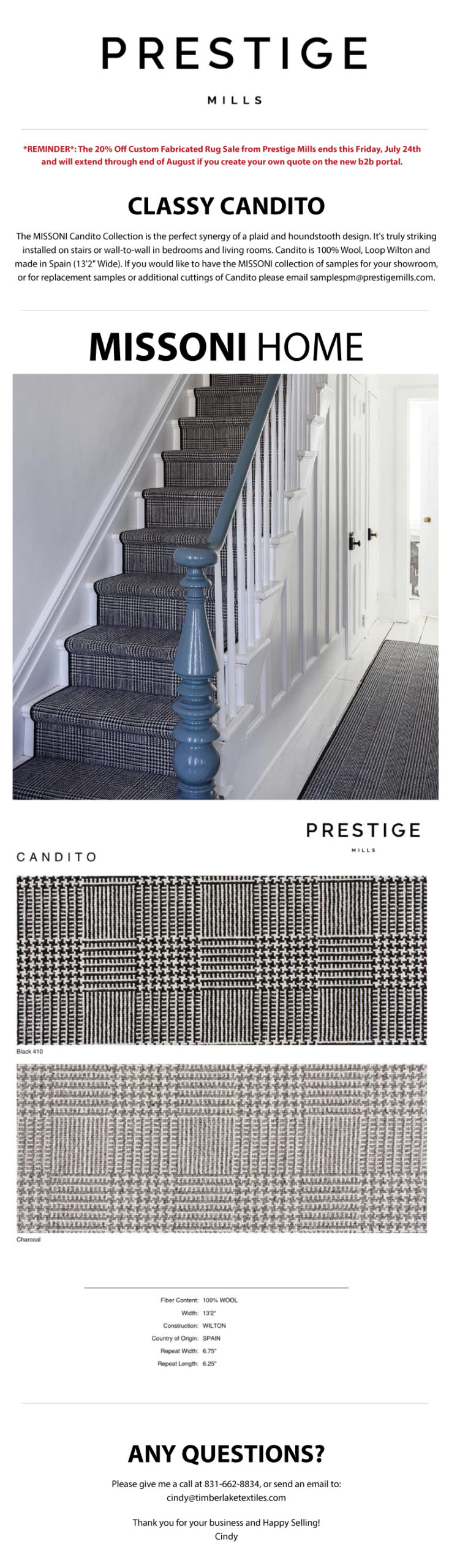 Prestige Mills | Missoni Highlight: Candito