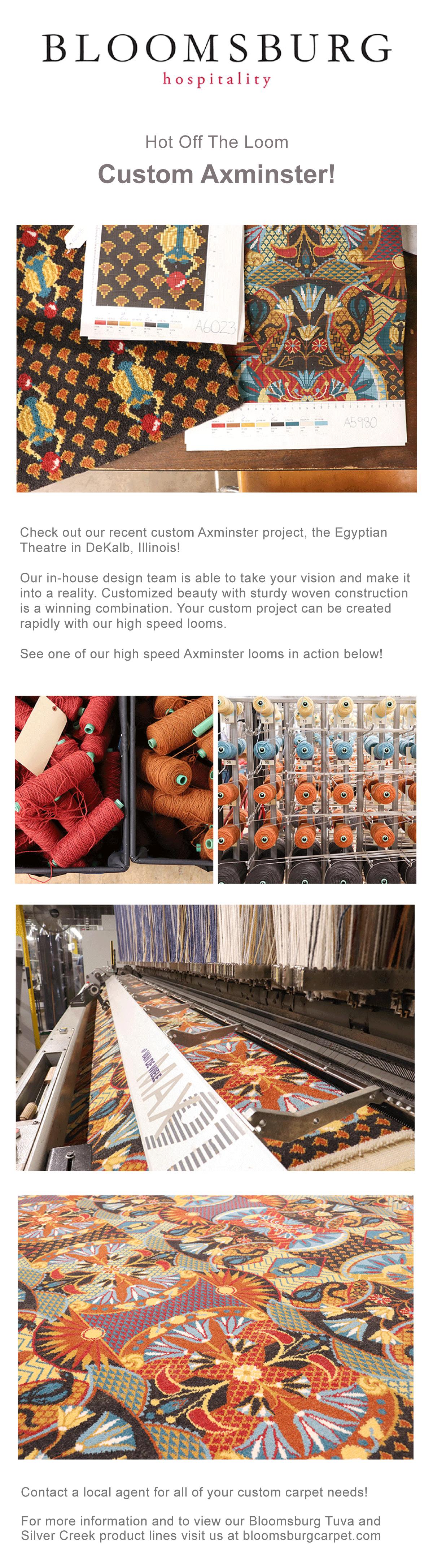 Bloomsburg Carpet Post | Hot Off The Loom: Custom Axminster