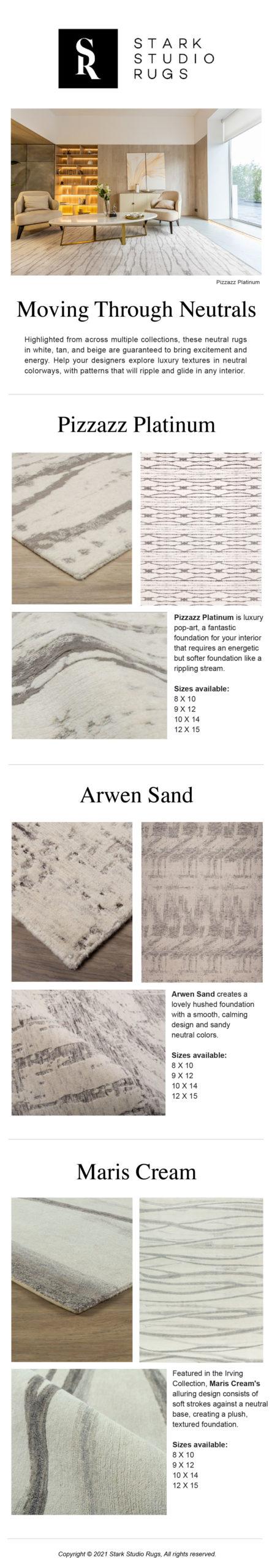 Movement through Neutrals: Flowing Patterns from Stark Studio Rugs