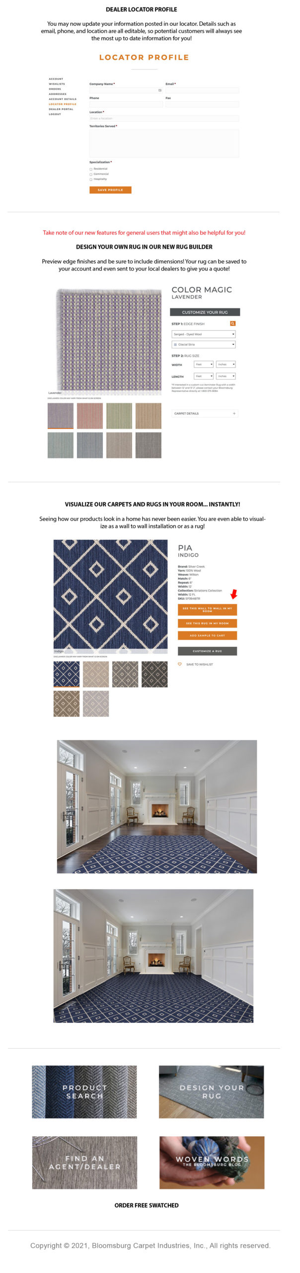 Bloomsburg Carpet | Our New Website is Live! announcement image #2