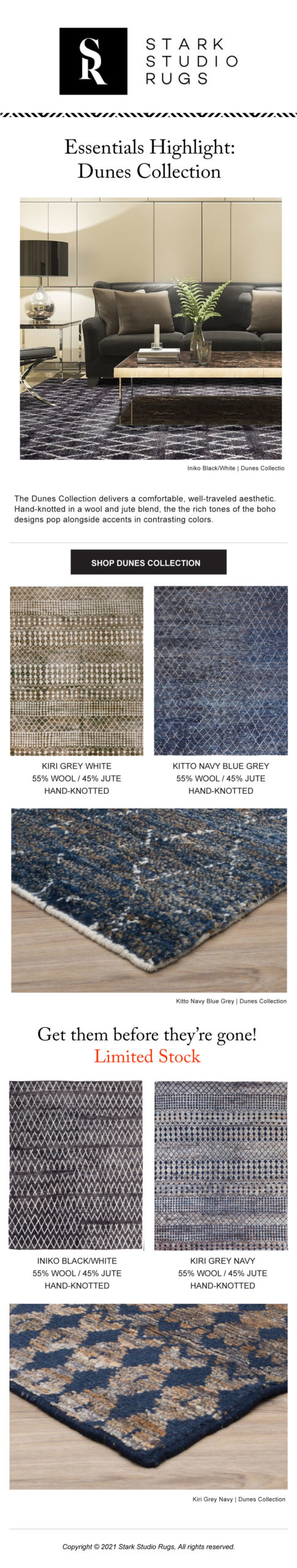 Stark Studio Rugs Dunes Collection Highlight images