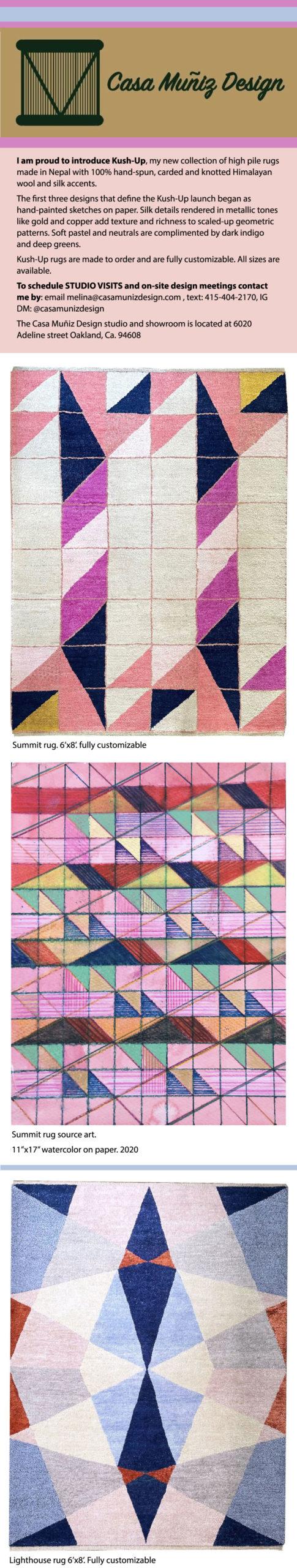 Casa Muñiz Design-Kush-Up: Hand-Knotted Shag rugs